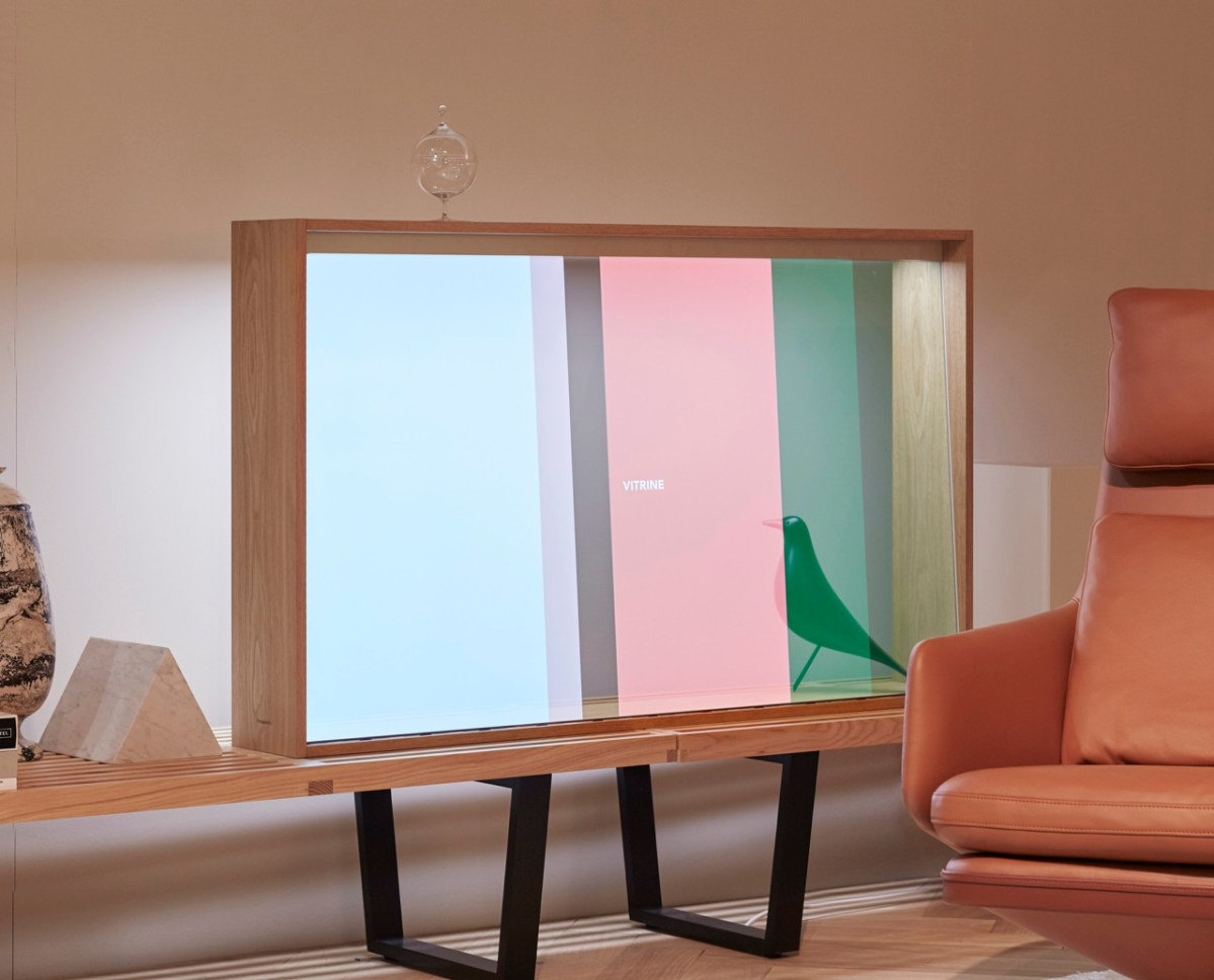 Panasonic and Vitra's See-Through Television